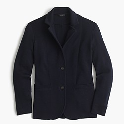 Merino wool sweater-blazer