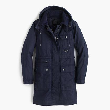 Petite long downtown field jacket