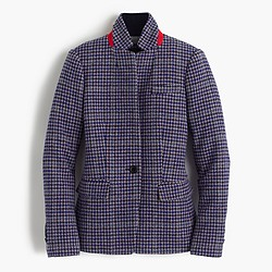 Regent blazer in purple houndstooth