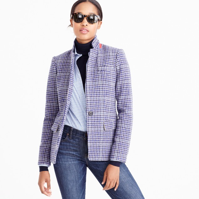 Regent blazer in purple houndstooth