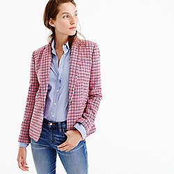 Campbell blazer in pink houndstooth