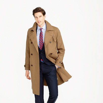 Ludlow double-breasted water-repellent trench coat