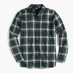 Boy shirt in crinkle plaid