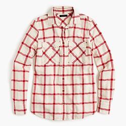 Boyfriend shirt in vintage red plaid