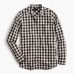 Lightweight boy shirt in oversized gingham