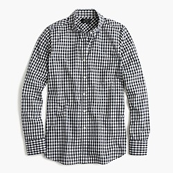 Club-collar boy shirt in gingham