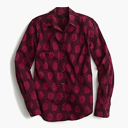 Perfect shirt in fern-printed Indian cotton