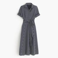 Midi shirtdress in stripe