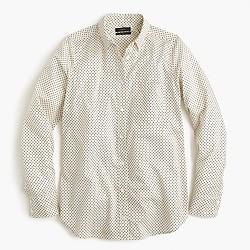 Lightweight boy shirt in small polka dot