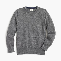 Boys' cotton crewneck sweater