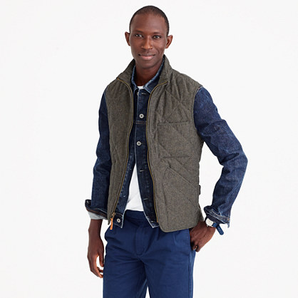 Sussex quilted vest in cotton twill