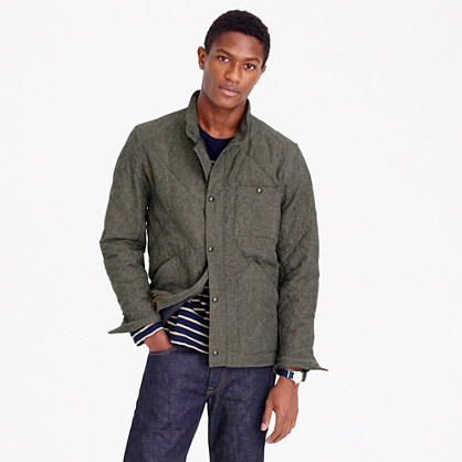 Sussex quilted jacket in cotton twill