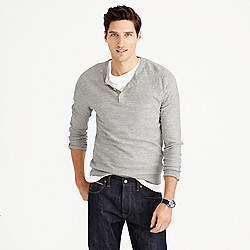 Rugged cotton henley sweater