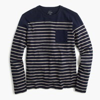 Nautical engineered-stripe long-sleeve T-shirt in cotton