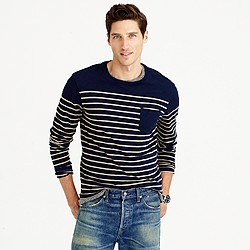 Tall nautical engineered-stripe long-sleeve T-shirt in cotton