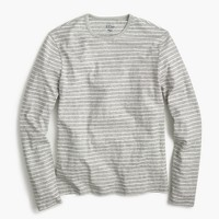 Tall nautical-striped long-sleeve T-shirt in heathered cotton