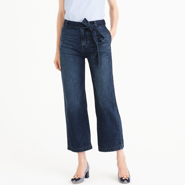 Rayner wide-leg jean with tie