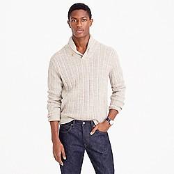 Cotton mariner shawl-collar sweater