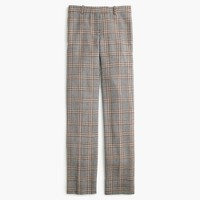 Petite full-length trouser in glen plaid