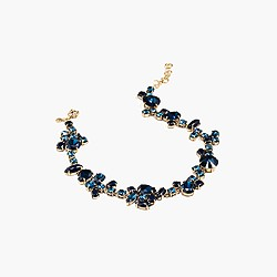 Crystal foliage necklace