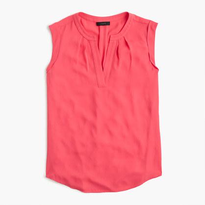 Cuffed-sleeve top