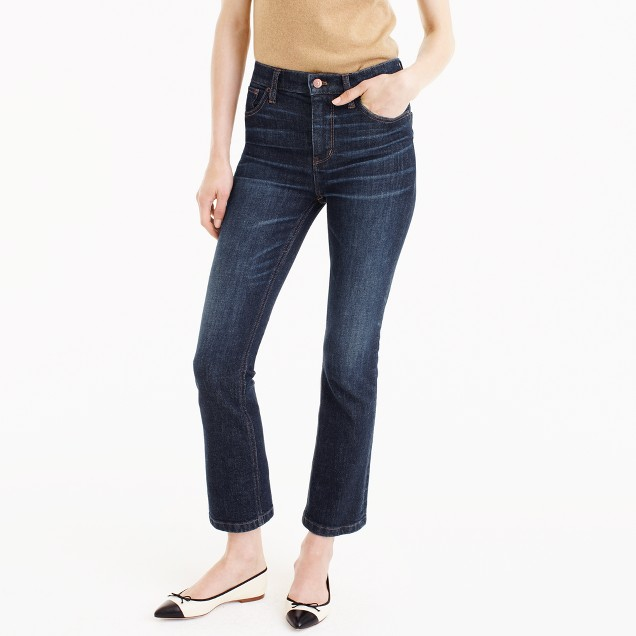Petite Billie demi-boot crop jean in Koby wash