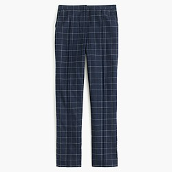 Tapered trouser pant in windowpane print