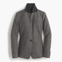 Collection Regent blazer in English glen plaid wool