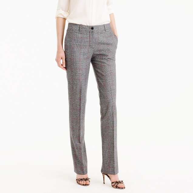 Collection Regent pant in English glen plaid wool