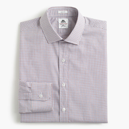 Thomas Mason® for J.Crew Ludlow shirt in mini-tattersall