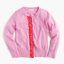 Pre-order Girls' sequin-panel cardigan
