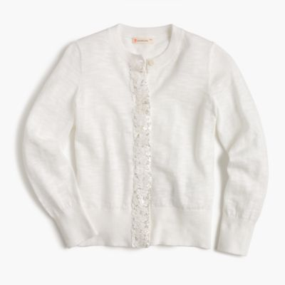 Girls' sequin-panel cardigan