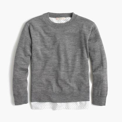 Girls merino wool popover sweater