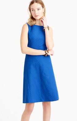 Diamond jacquard A-line dress