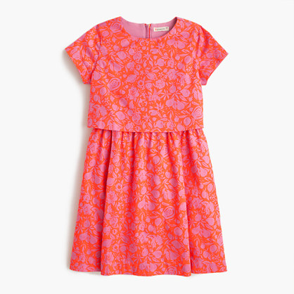 Girls' tiered dress in sunbleached floral