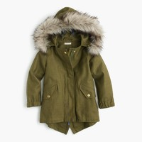 Girls' cotton fishtail jacket