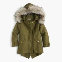 Girls' cotton fishtail jacket