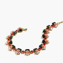 Lucite floral necklace