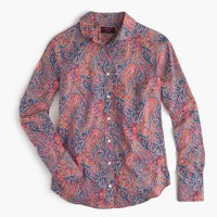 Club collar perfect shirt in Liberty Art Fabrics Felix & Isabella print