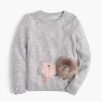 Girls' furry Max the Monster wool popover sweater