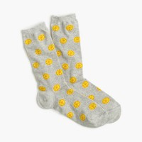 Trouser socks in lemon print