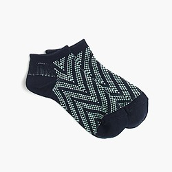 Ankle socks in chevron print
