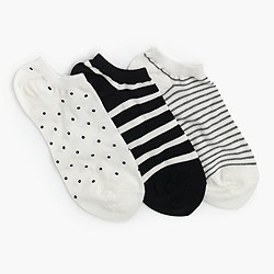 Printed ankle socks three pack