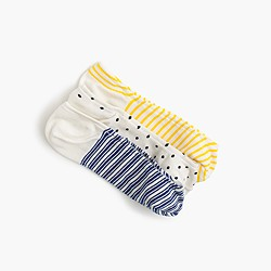 Mixed no-show socks three-pack