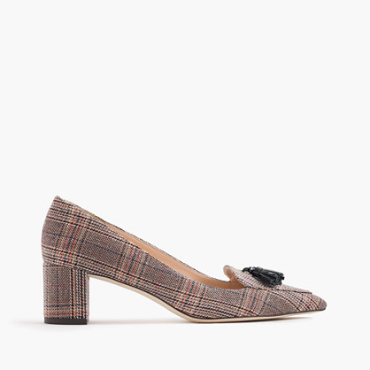 Avery heels in tweed