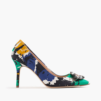 Collection Elsie jeweled pumps in abstract print