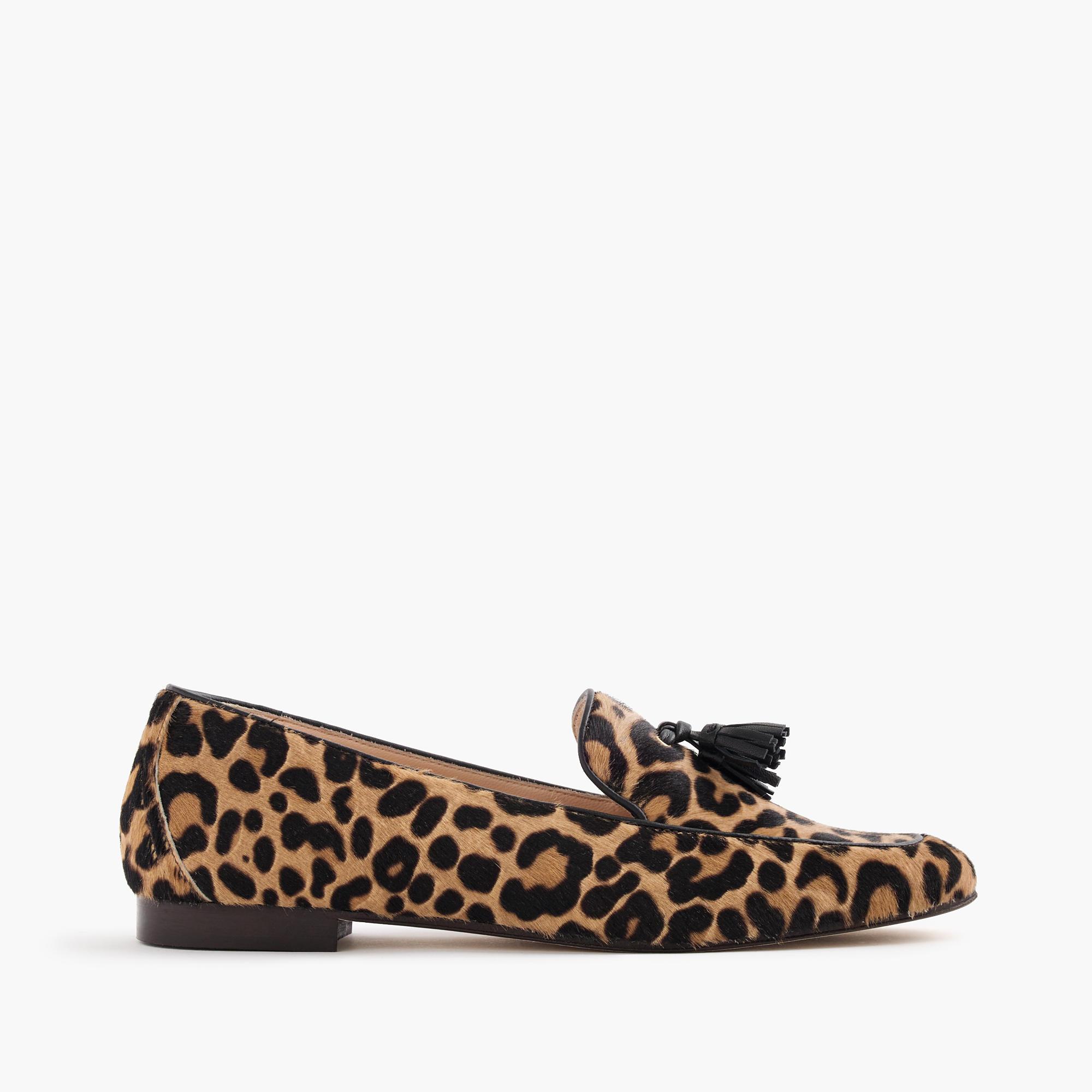 Leopard Shoes Loafer Size