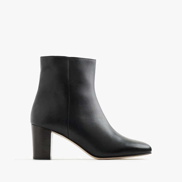 Heeled ankle boots in leather