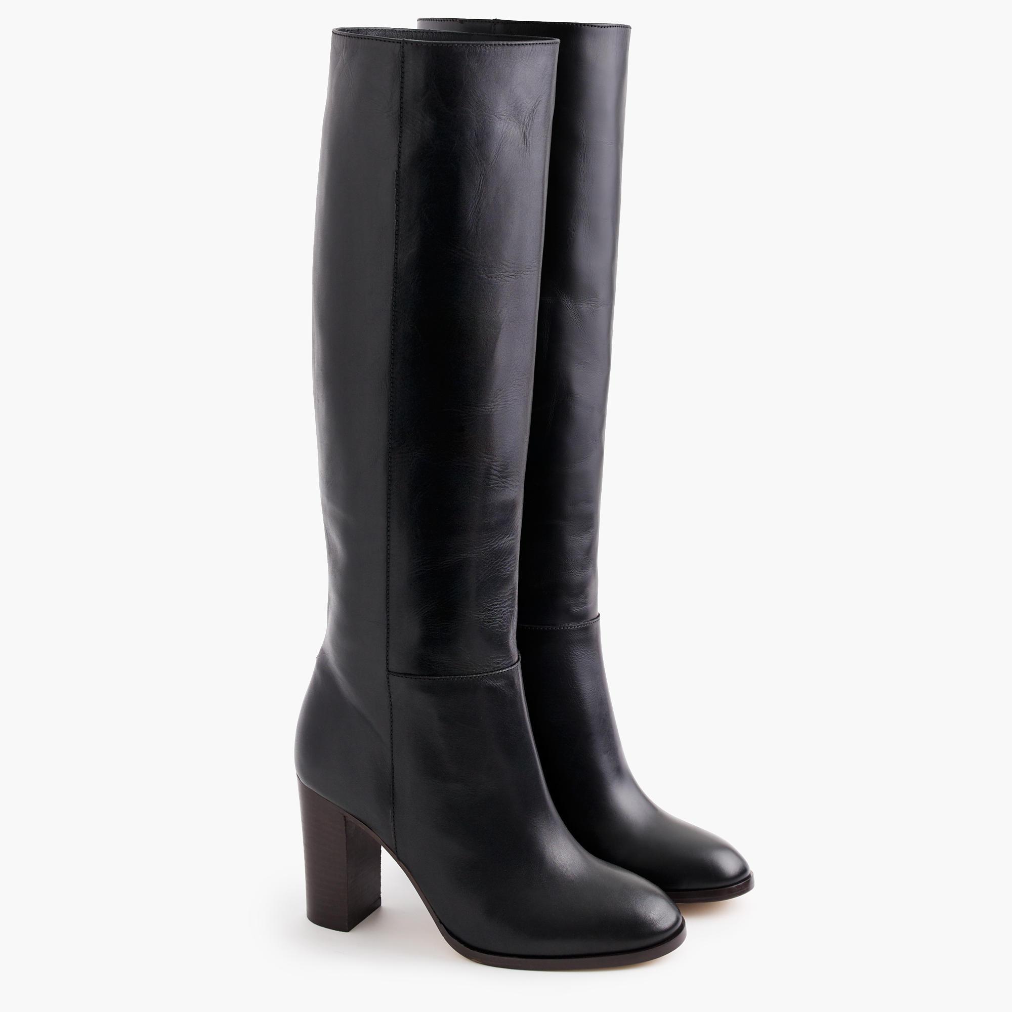 High-Heel Knee Boots In Leather : Women's Boots | J.Crew