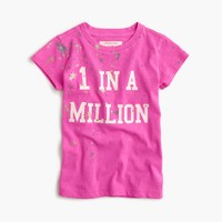 "Girls' ""1 in a million"" T-shirt"
